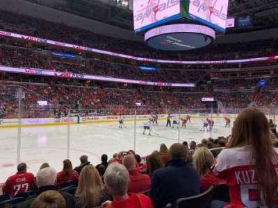 Capital One Arena, vak: 109, rij: H, stoel: 5