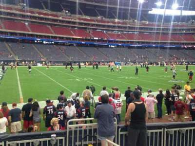 NRG Stadium, vak: 139, rij: E, stoel: 1