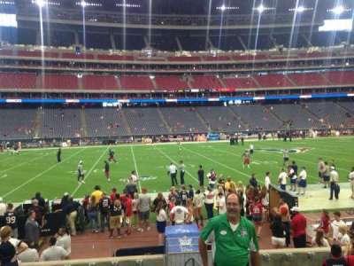 NRG Stadium, vak: 109, rij: JJ, stoel: 1