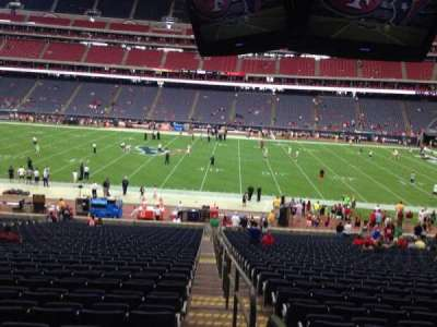 NRG Stadium, vak: 109, rij: JJ, stoel: 23
