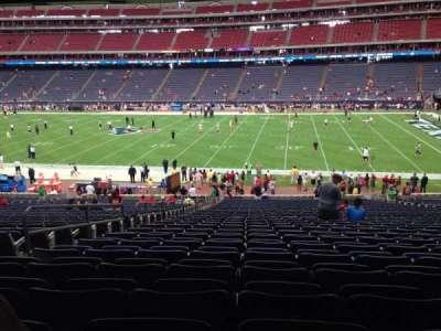 NRG Stadium, vak: 104, rij: J, stoel: 5