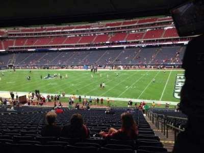 NRG Stadium, vak: 103, rij: JJ, stoel: 23