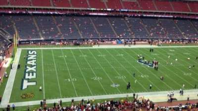 NRG Stadium, vak: 512, rij: M, stoel: 1