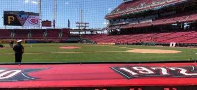 Great American Ball Park, vak: 117, rij: H, stoel: 3-4