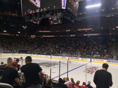 T-Mobile Arena, vak: 7, rij: E, stoel: 1