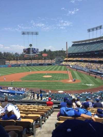 Dodger Stadium, vak: 119LG, rij: L, stoel: 7