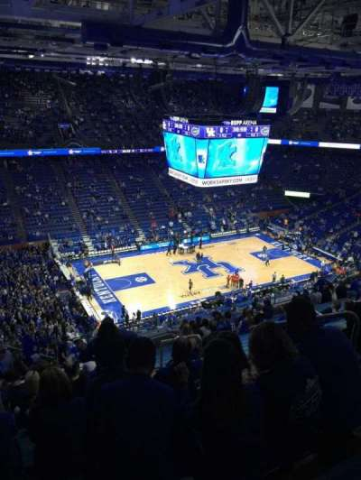 Rupp Arena, vak: 234, rij: W, stoel: 6