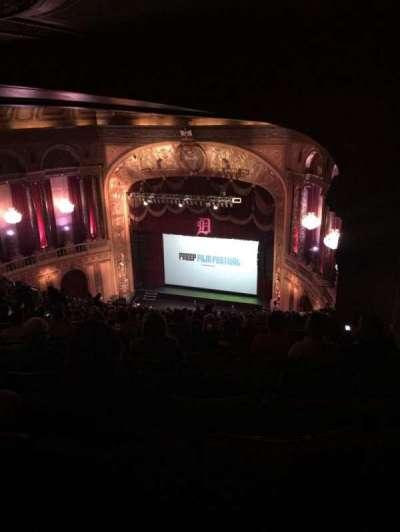 The Fillmore Detroit, vak: Upper balcony, rij: W, stoel: 1