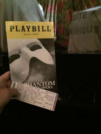 Majestic Theatre, vak: Orch, rij: AA, stoel: 2