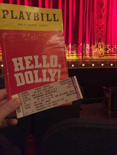 Shubert Theatre, vak: Orch, rij: E, stoel: 3