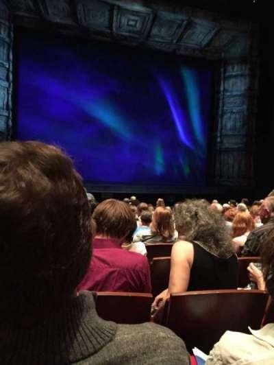 The Buell Theatre, vak: Orch, rij: K, stoel: 22