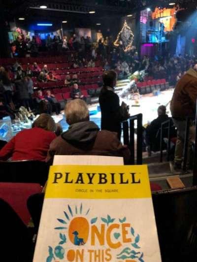 Circle in the Square Theatre, vak: Orch, rij: E, stoel: 126