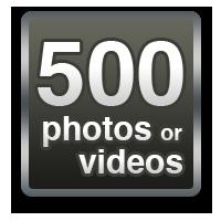 500 photos or videos