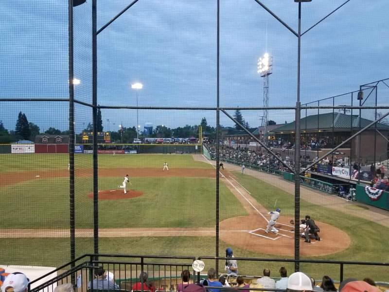 Rawhide Ballpark, vak: 208, rij: J, stoel: 8