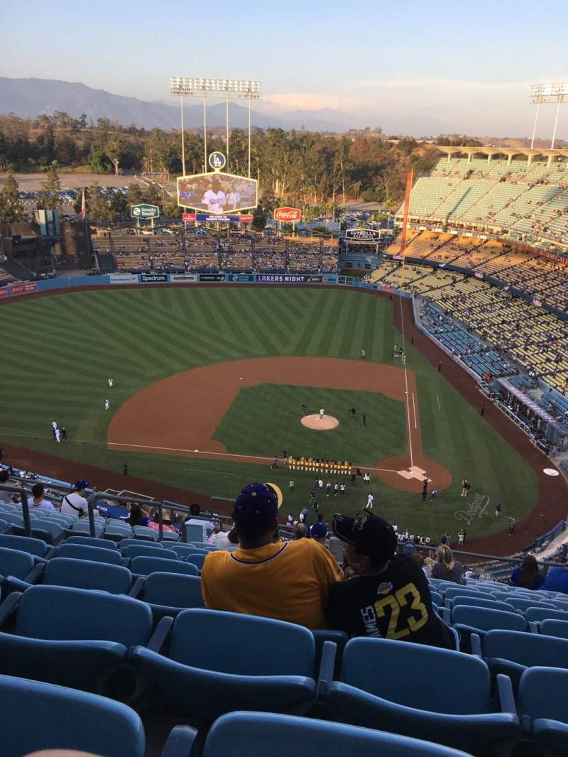 Dodger Stadium, vak: Top Deck, rij: N, stoel: 21