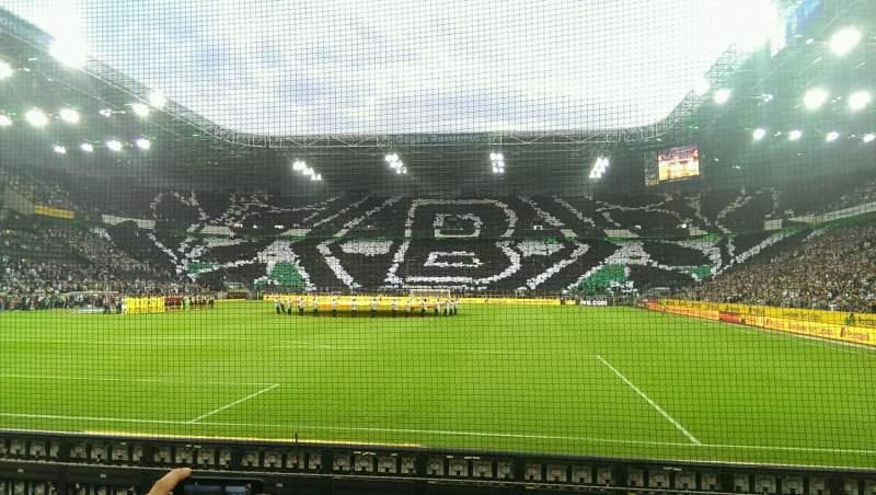 Uitzicht voor Borussia Park Vak 5 Rij 5 Stoel 31