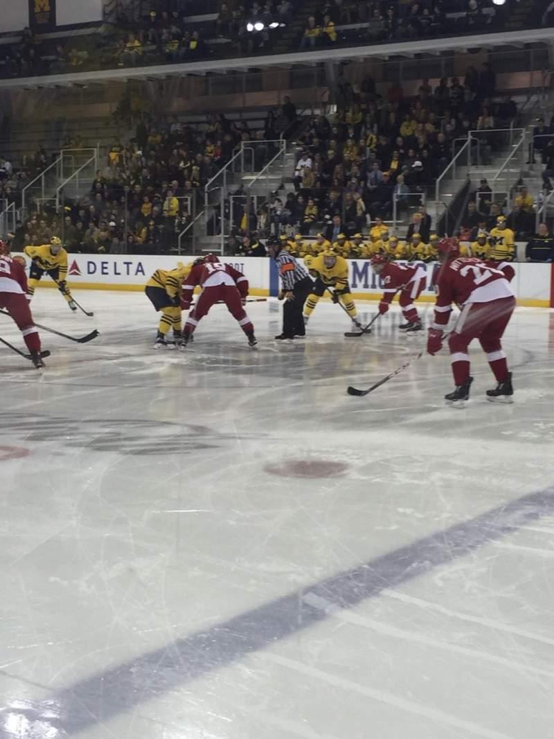 Uitzicht voor Yost Ice Arena Vak 6 Rij 1 Stoel 1-4