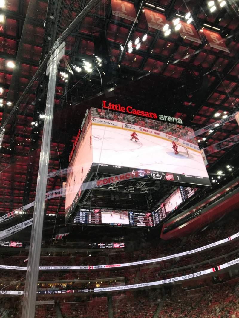 Little Caesars Arena, vak: 118, rij: 1, stoel: 3
