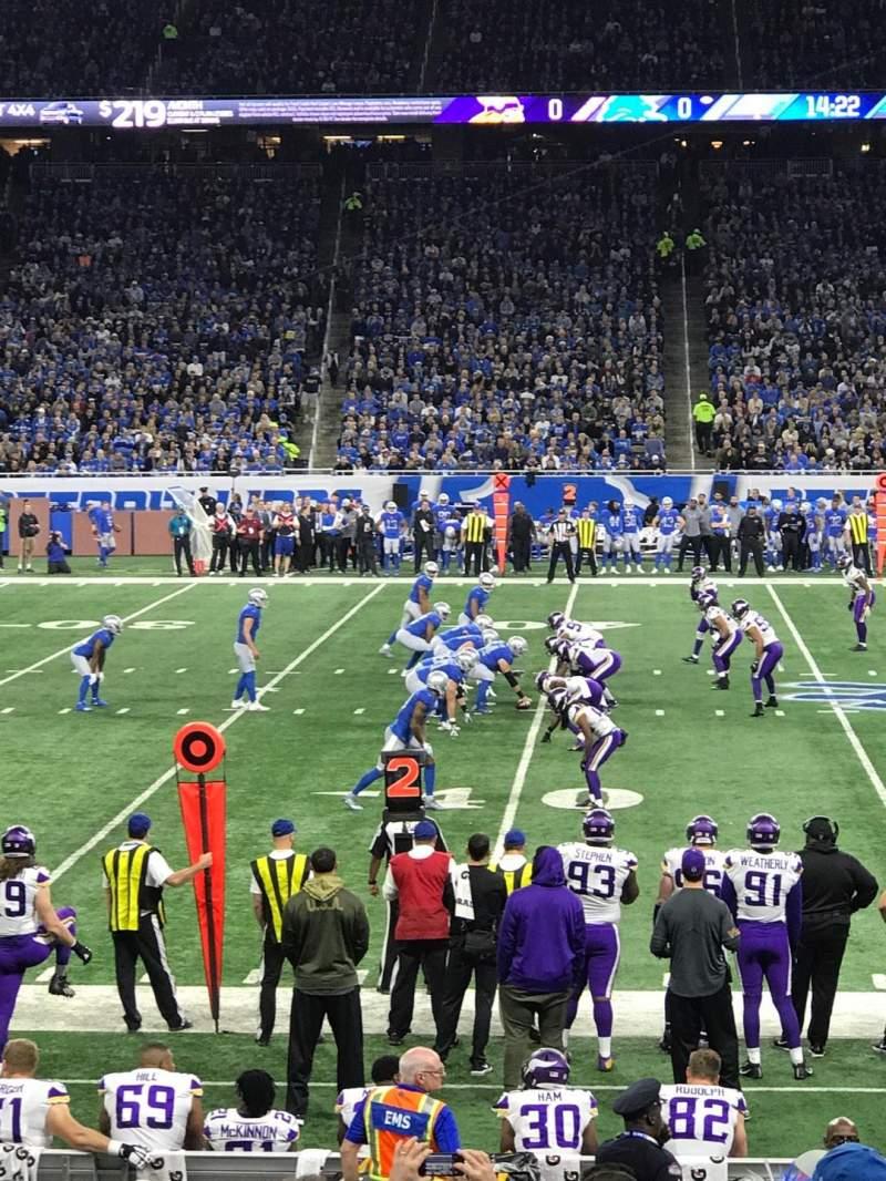Ford Field, vak: 126, rij: 14, stoel: 21