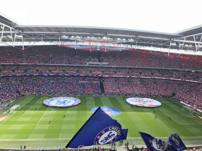 Wembley Stadium, vak: 501, rij: 13, stoel: 30