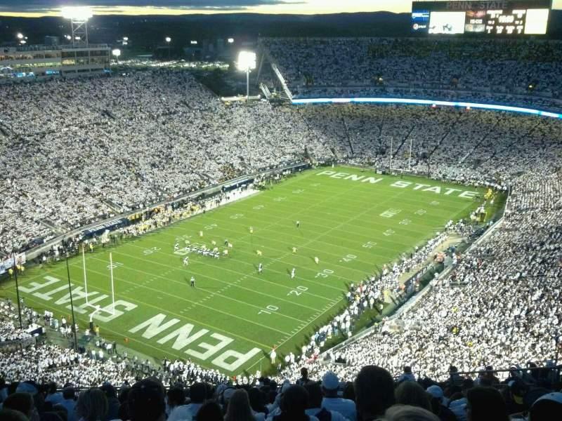Beaver Stadium, vak: SBU, rij: 76, stoel: 33