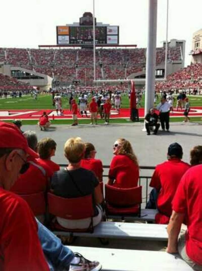 Ohio Stadium, vak: 4AA, rij: 6, stoel: 3 and 4