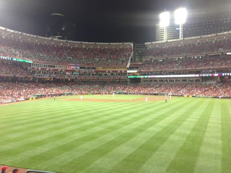 Great American Ball Park, vak: 144, rij: I, stoel: 14