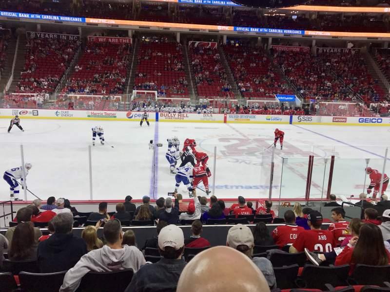 PNC Arena, vak: 120, rij: M, stoel: 8