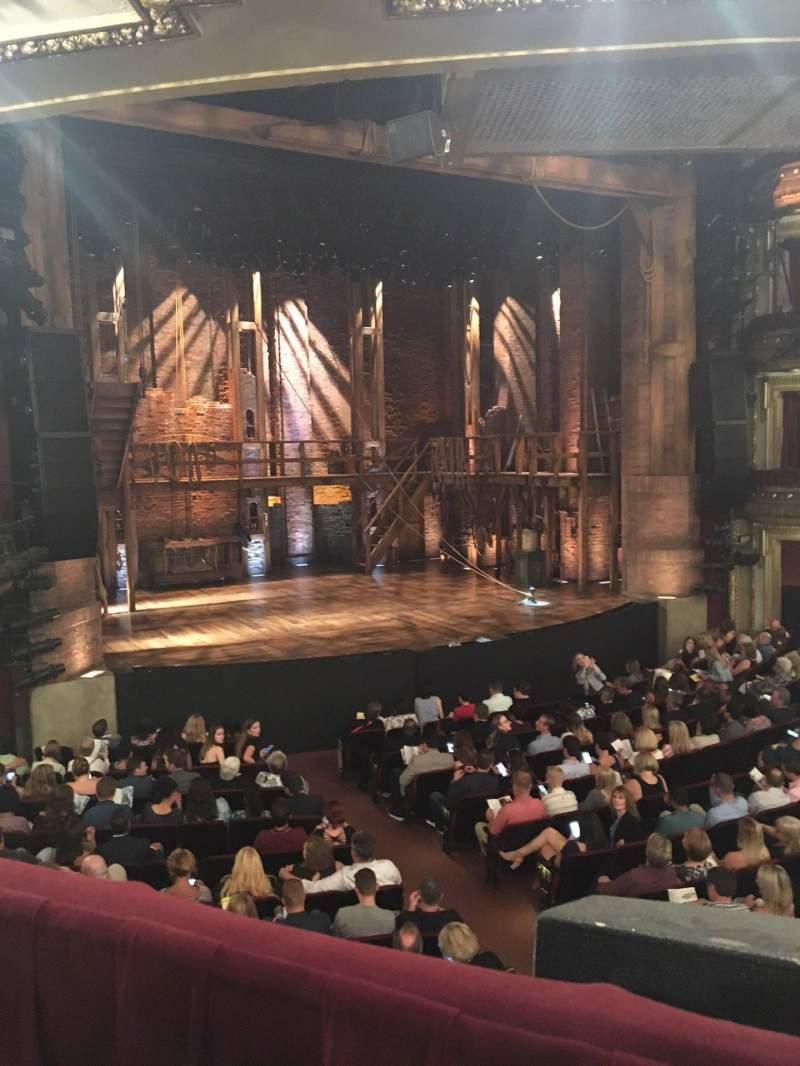 Uitzicht voor CIBC Theatre Vak Dress Circle L Rij A Stoel 3