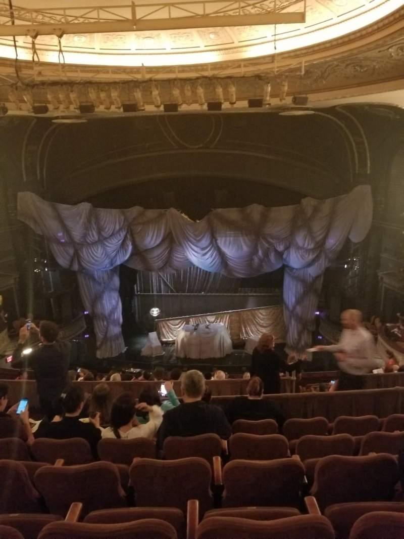 Uitzicht voor Majestic Theatre Vak Mezzanine Rij F Stoel 110