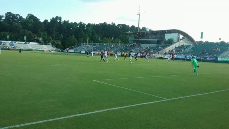WakeMed Soccer Park, vak: 403, rij: 1, stoel: 20