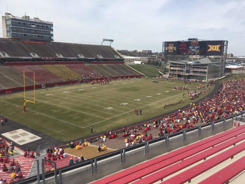 Jack Trice Stadium, vak: Q, rij: 8, stoel: 16
