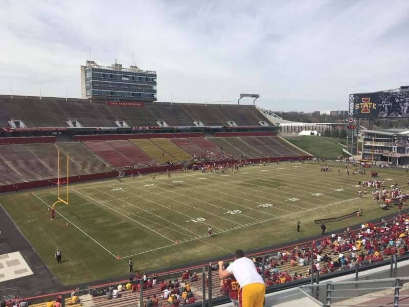 Jack Trice Stadium, vak: S, rij: 8, stoel: 8