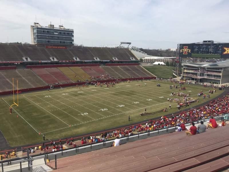 Jack Trice Stadium, vak: T, rij: 20, stoel: 1