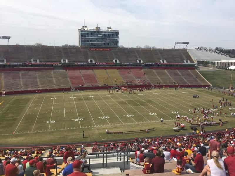 Jack Trice Stadium, vak: U, rij: 20, stoel: 42
