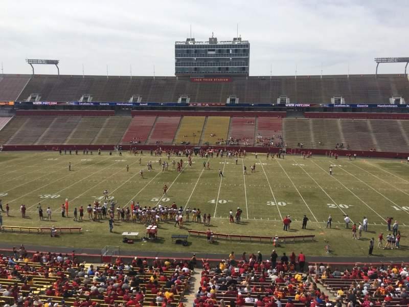 Jack Trice Stadium, vak: X, rij: 1, stoel: 1