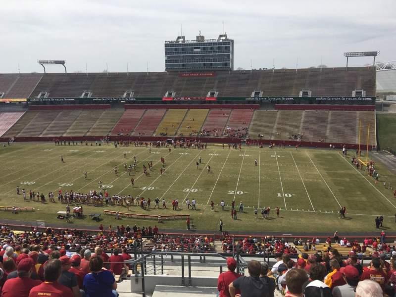 Jack Trice Stadium, vak: Y, rij: 17, stoel: 1