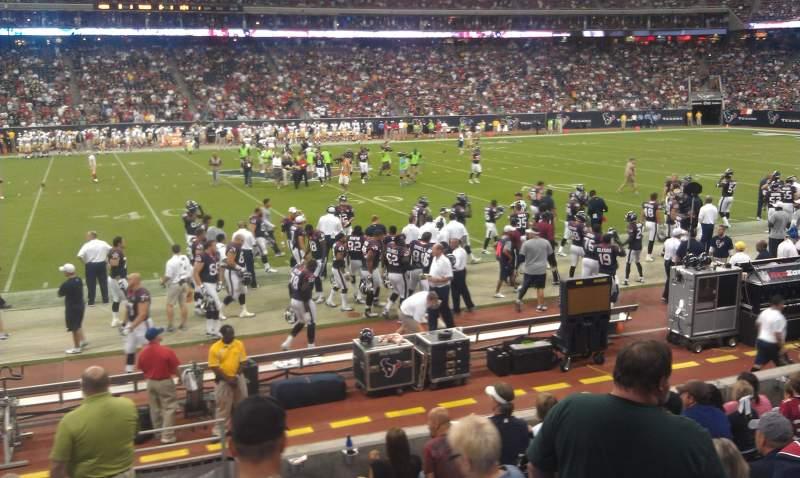 NRG Stadium, vak: 107, rij: H, stoel: 21