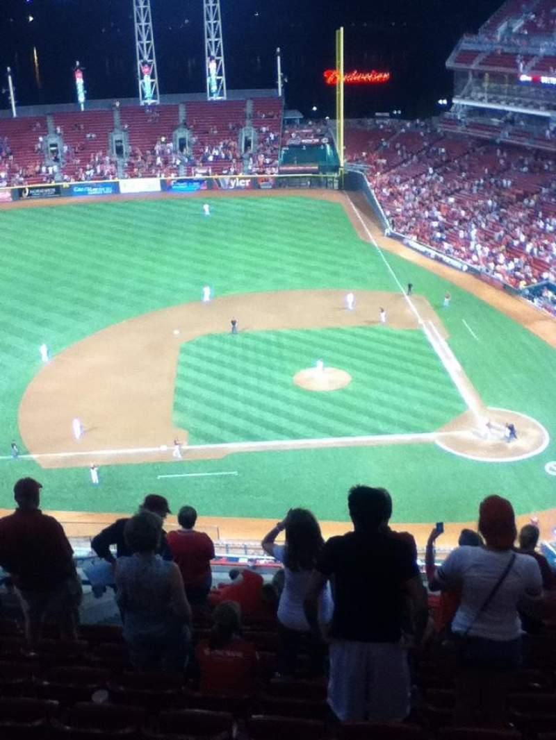 Great American Ball Park, vak: 518, rij: N, stoel: 18