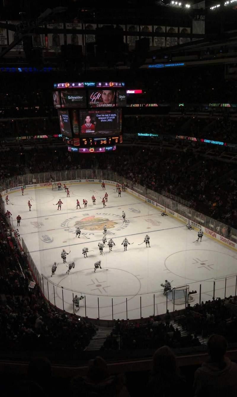 United Center, vak: 328, rij: 5, stoel: 7