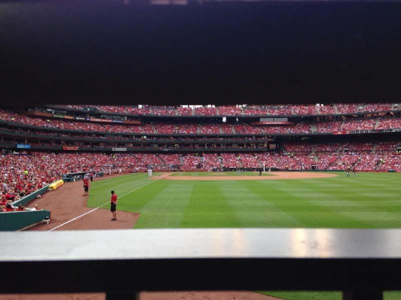 Busch Stadium, vak: 128, rij: 1, stoel: 3