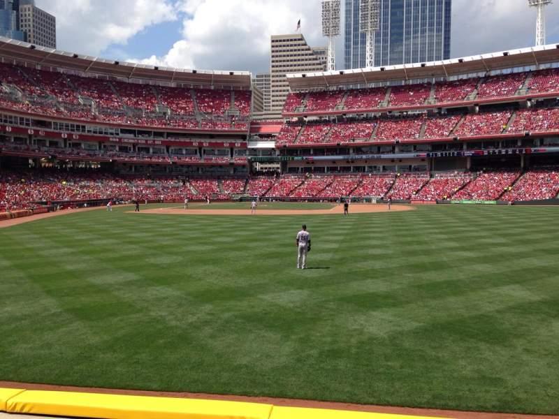 Great American Ball Park, vak: 142, rij: C, stoel: 14