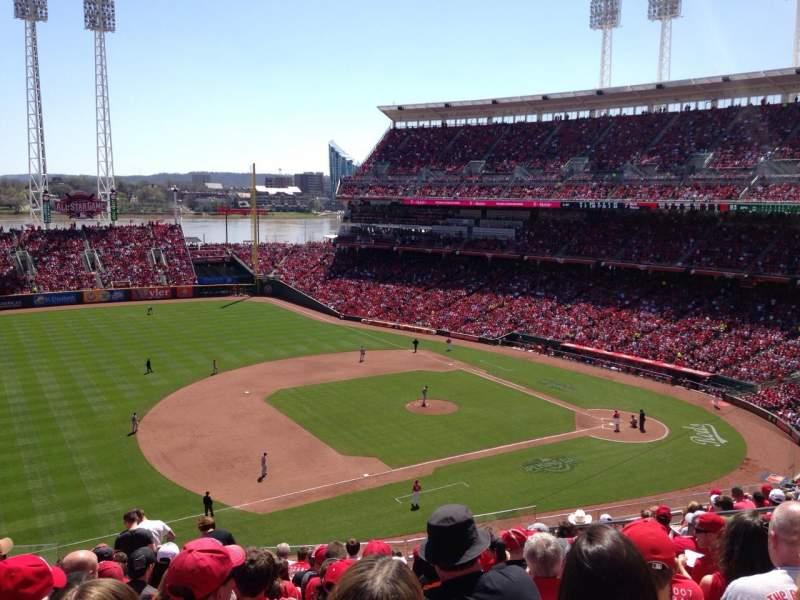 Great American Ball Park, vak: 415, rij: M, stoel: 11