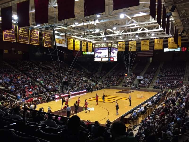 Winthrop Coliseum, vak: 118, rij: P, stoel: 9