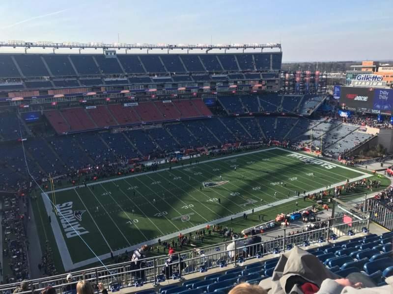 Gillette Stadium, vak: 314, rij: 15, stoel: 16