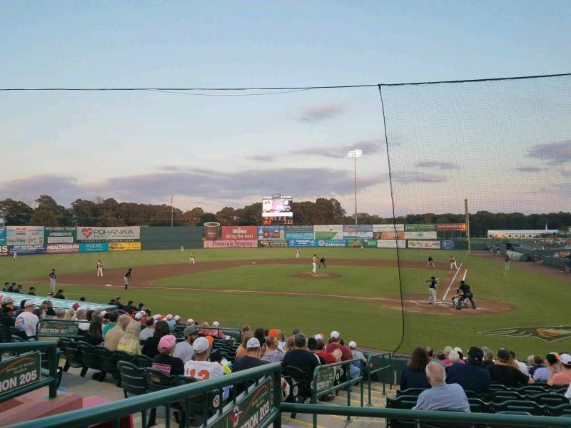 Arthur W. Perdue Stadium, vak: 203, rij: CC, stoel: 10