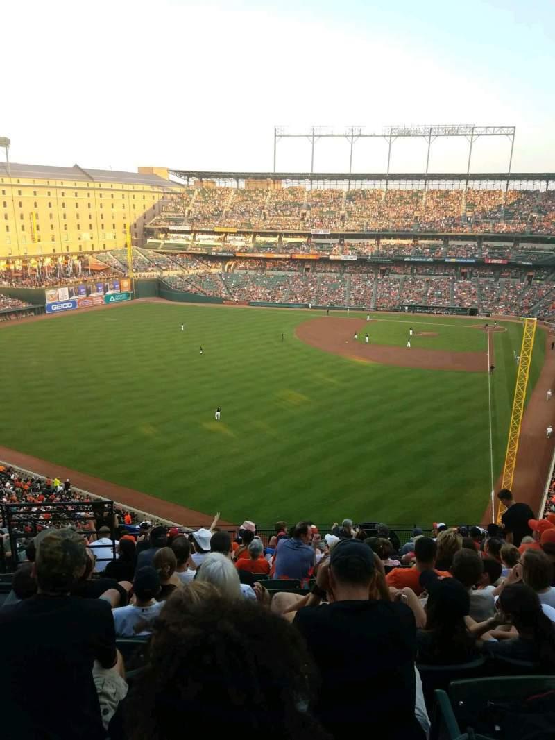Oriole Park at Camden Yards, vak: 380, rij: 14, stoel: 16
