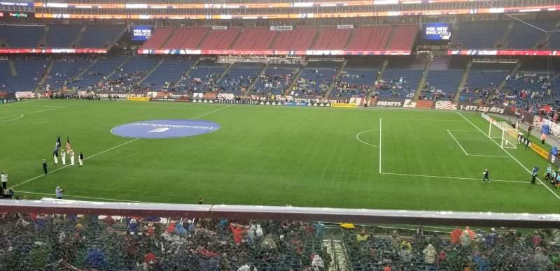 Gillette Stadium, vak: CL7, rij: 1, stoel: 1