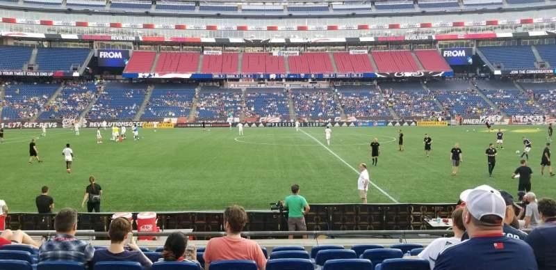 Gillette Stadium, vak: 110, rij: 8, stoel: 9