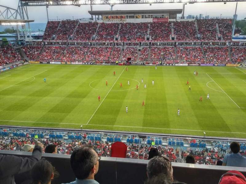 BMO Field, vak: 206, rij: 8, stoel: 24